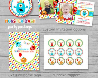 Monster Bash Birthday Party Package - DIY Printable