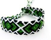 Hulk Green Hand Woven Macrame Friendship Bracelet - Great Handwoven Gift for Best Friends and Marvel Avengers Fans