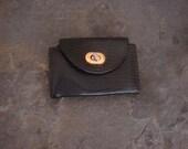 Vintage Key Fobe Mini Wallet Black Reptile Mid Century Black Mini Wallet