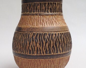 1203 - Flower Vase with sgraffito