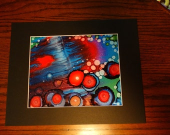 """Fault Line. Alcohol Ink on 9"""" X 12"""" Yupo"""