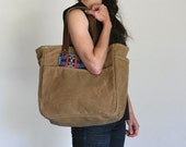 Waxed Canvas Tote Wheat Tan