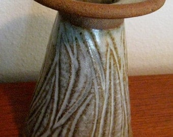 Mid Century Modern Architectural pottery David Cressey, Maxwell style original signed candle holder or vase