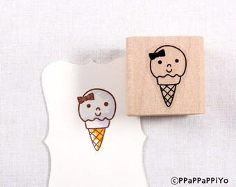 50% OFF SALE Cute ice cream Rubber Stamp