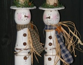 Snowman Table Sitter From Upcycled Table Leg