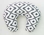 Nursing Pillow Cover Black Southwest Diamonds. Nursing Pillow. Nursing Pillow Cover. Minky Nursing Pillow Cover. Black Nursing Pillow Cover.