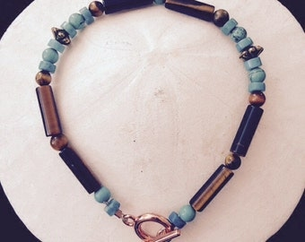Bracelet:  Turquoise and Tiger's Eye