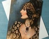 Tattooed Gypsy Gypsy Girl Greetings Card