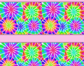 Tie Dye Wallpaper Border Decals Wall Art Girls Rainbow Hippie Room Teen Decor Childrens Bedroom Kids