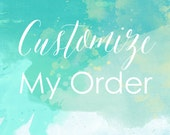 Customize My Order - Order add-on
