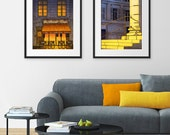 Any TWO Prints - Save 20%,Set of two Illustrations,Art illustration Giclee Art print Paris decor City print Home decor Architectural drawing