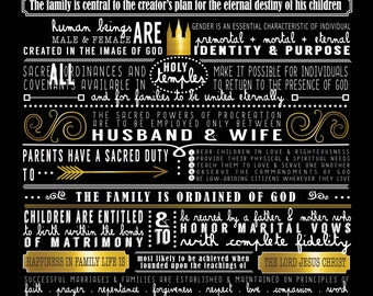 The Proclamation to the Family { Excerpts from } PRINT Multiple color options!!