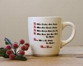 Vintage Funny Gag Gift Drunk Mug Red Black Mid-Century