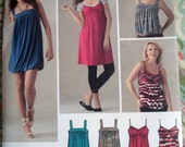Simplicity Misses' Knit Dresses Or Tops Pattern 3882 - Size 4-6-8-10-12