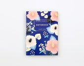 Hibiscus Notebook - Blue