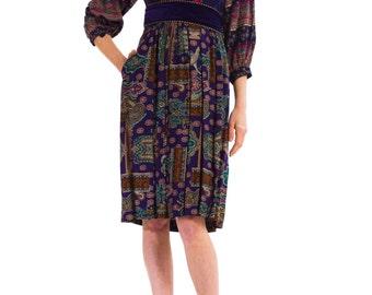 1970s Vintage Loulou Cotton Dress  Size: XS