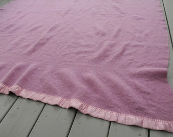 Wool Blanket Lavender and Pink Golden Dawn