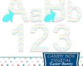 Easter Alphabet, Easter Bunny Alphabet, Bunny Alphabet, Easter Font, Easter Bunny Font, Bunny Font - Commercial Use OK