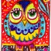 Funny Owl Print, Owl Art, Kids Room Decor, Nursery Room Decor, Whimsical Animal Art, Red And Blue, Boys Room, Olivia Owl by Paula DiLeo_