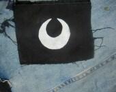 crescent moon/sailor moon patch