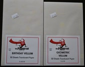 Birthday and Geometric Squares Vellum Paper Packs