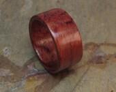 Wooden Bubinga Handcrafted Wedding / Anniversary Ring