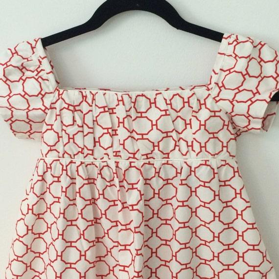 Girl's Organic Cotton Summer Print Dress, Long, S/M