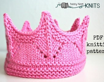 Baby crown knitting pattern Etsy