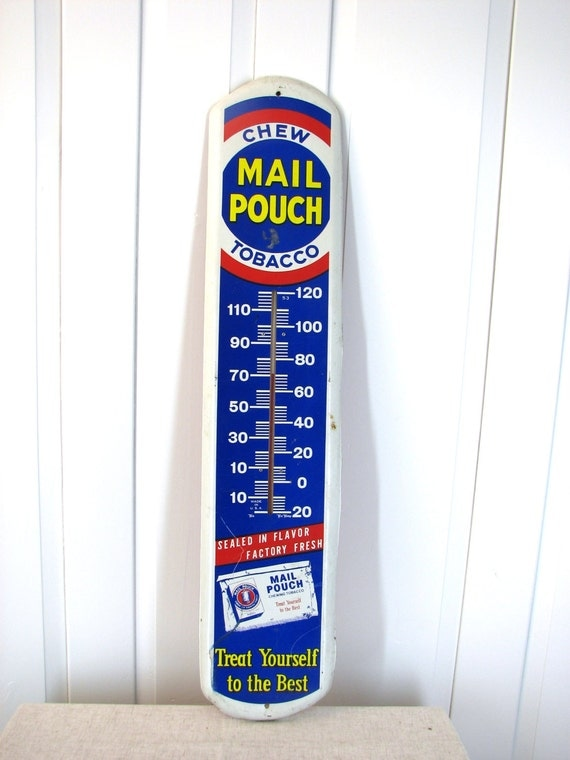 Large mail pouch advertising thermometer by theglossedandfound for Poolthermometer obi