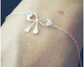 Sterling Silver Bow Bracelet - Bridesmaids Bracelet - Silver Wedding Jewelry - Simplistic Jewelry