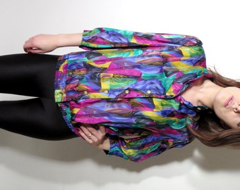 Vintage Sommermann Colorful Blouse Size 44 / F46 / GB18
