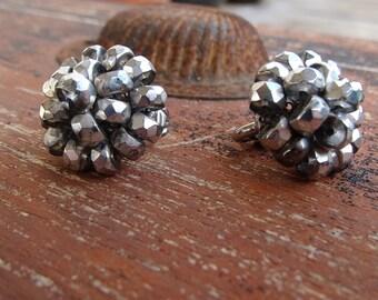 Vogue Silver Metal Clip Earrings