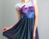 Tropical morning - tulle short dress for Katharina