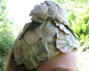 Cutest Whimsical Floral 1950's Hat