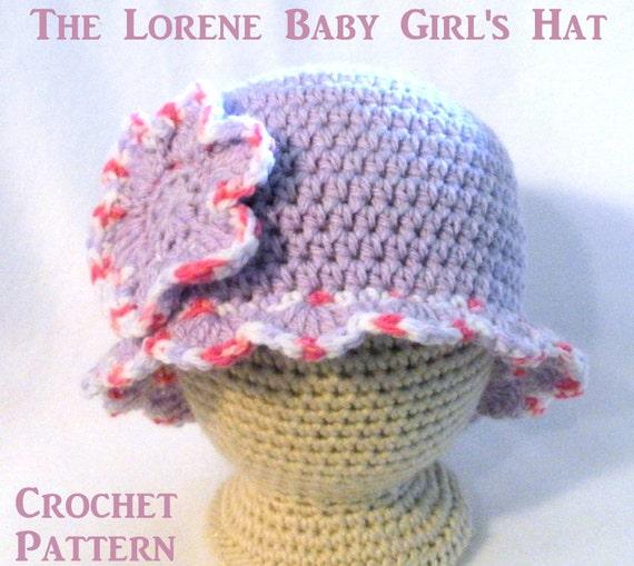 Crochet Pattern Baby Cowboy Hat Free : CrocheT PATTERN Baby Hat PATTERN The Lorene Hat Cloche Pattern