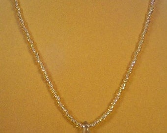 "Beautiful 18-1/2"" sparkling Dichrotic Glass necklace - N329-330"