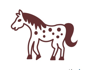 Horse Iron on decal in 19 colors 152