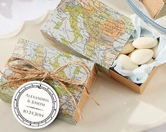 Personalized Wedding Favors (set of 24), candy favor boxes, wedding favors; Bridal Shower Favors; Destination Wedding Favors
