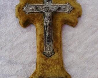 Holy Water Font, French Vintage Stoop ,Benitier Napoleon III ,Jesus Christ ,Crucifix Saviour Christmas Gift ex voto