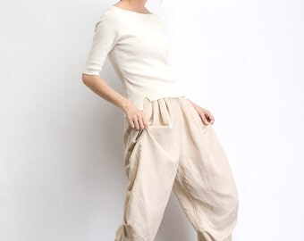 Chocolate Brown Linen Pants Casual Everyday House Pants