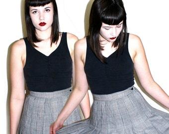 90s School Girl Pleated Circle Skirt