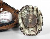 Baseball Glove Mini Desk Clock — For Baseball Fans, Sports Fans, American Pastime