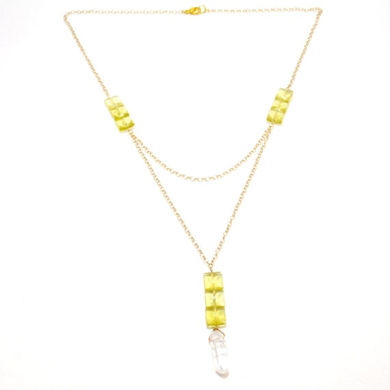 Lemon Quartz Gold Layered Necklace