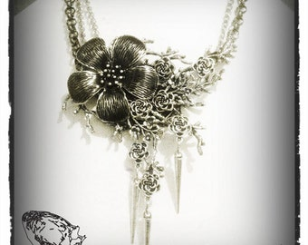 Flower Storm Gothic Necklace