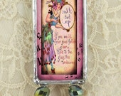 Soldered glass pendant, Soldered art pendant, Steampunk jewelry, Gypsie Lady One