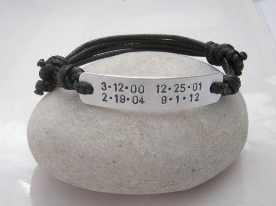 bracelet for man men bracelet birthdates bracelet gift for. Black Bedroom Furniture Sets. Home Design Ideas