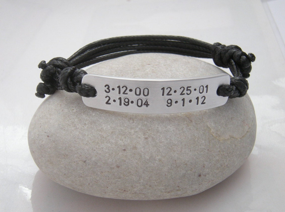 bracelet for man men bracelet birthdates bracelet gift for. Black Bedroom Furniture Sets. Home Design Ideas