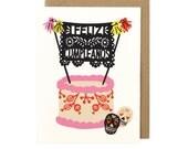 Folk Cake Card
