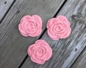Crochet Face Scrubbies, Pink Flower Scrubbies, Reusable Cotton Rounds, Facial Scrubbies, Makeup Removers, Eco Friendly Cleansing Pads