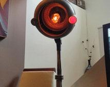 Vintage Hair Dryer Floor Lamp Industrial Steampunk Retro